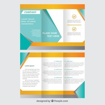 Trifold broszura szablon