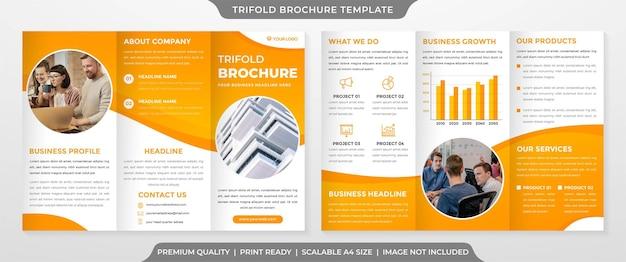 Trifold szablon broszury w stylu premium