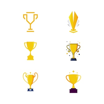 Trofeum ilustracja wektorowa ikona projektu szablon