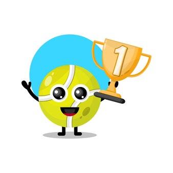Trofeum piłka tenisowa śliczna maskotka postaci