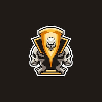 Trofeum śmierci maskotka projekt wektor