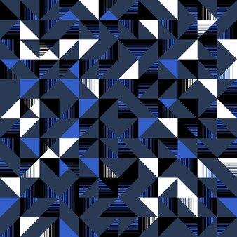 Trójgraniasty wzór ciemny niebieski czarno-biały