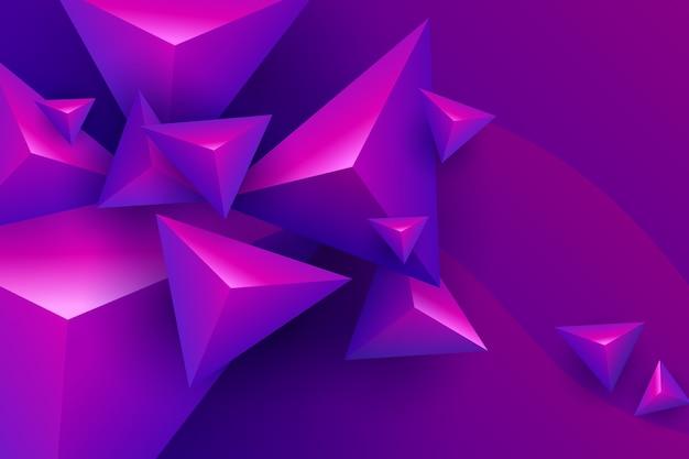 Trójkąt 3d o żywych kolorach