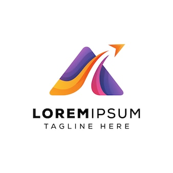 Trójkąt logo podróży list latający szablon logo