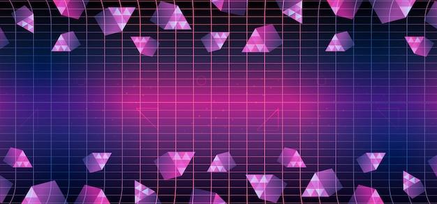 Trójkąt memphis geometryczne 80-tych tło