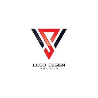 Trójkąt s symbol logo design