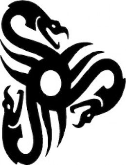 Trójkąt węże tribal design