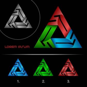 Trójkąt zapętlony streszczenie biznes logo