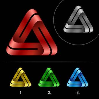 Trójkąt zapętlony szablon projektu streszczenie logo firmy