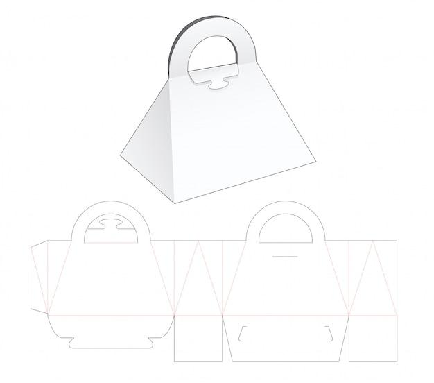 Trójkątna torebka wycinany szablon