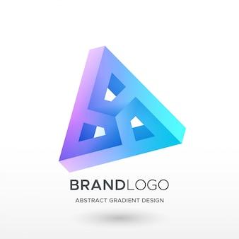 Trójkątne logo gradientu