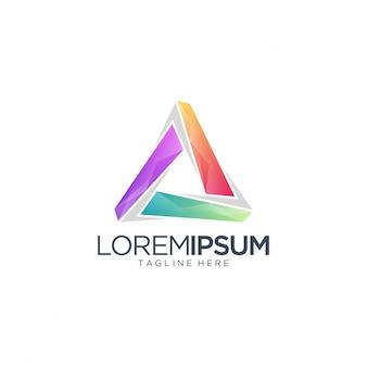 Trójkątne logo media and entertainment