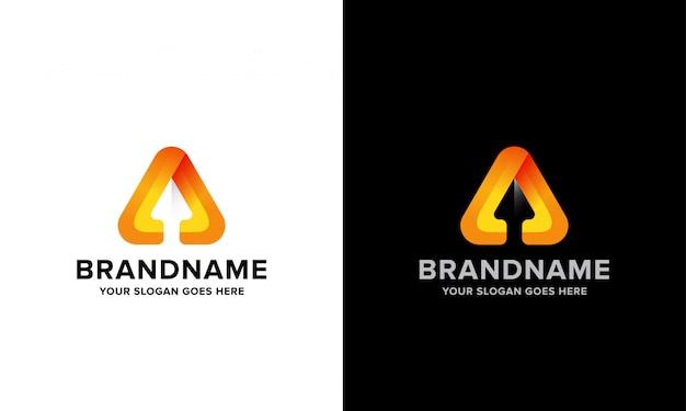 Trójkątne logo w górę