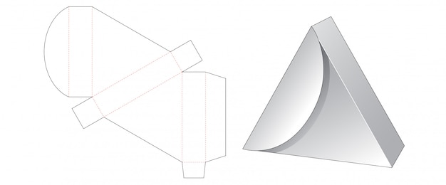 Trójkątne pudełko szablon wycinane
