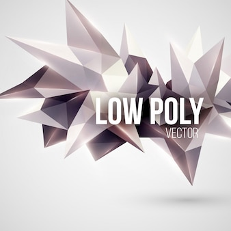 Trójkątne tło low poly. element projektu.