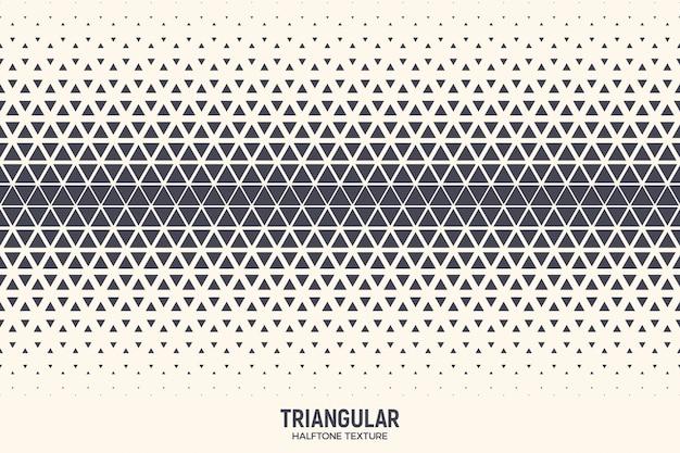 Trójkątne tło wzór geometryczny półtonów