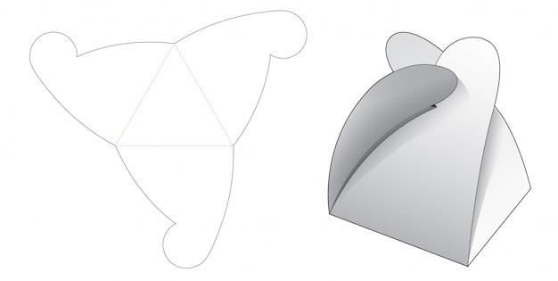 Trójkątny karton wycinany szablon