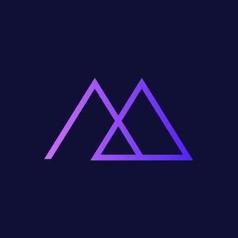 Trójkątny projekt logotypu