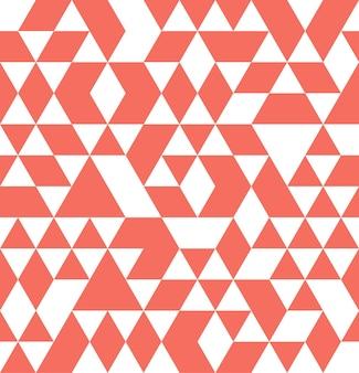 Trójkątny wzór w kolorze living coral. streszczenie tło geometryczne. kolor roku 2019. luksusowa i elegancka ilustracja w stylu
