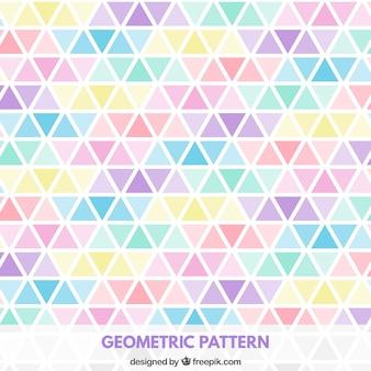 Trójkąty wzór w pastelowych kolorach