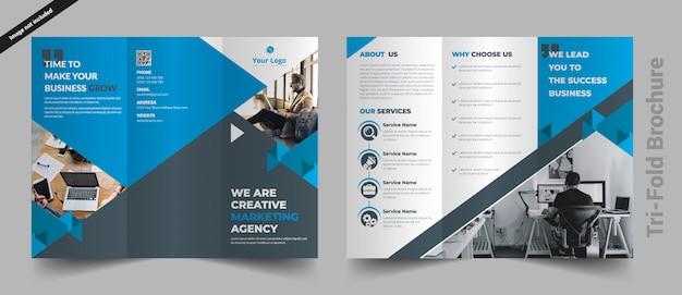 Trójkrotnie szablon broszury