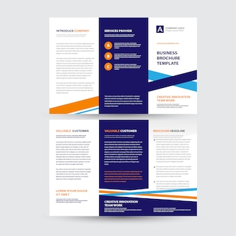 Trójstronny projekt broszury