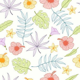 Tropical seamless pattern for wallpaper