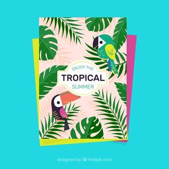 Tropikalna lato tle