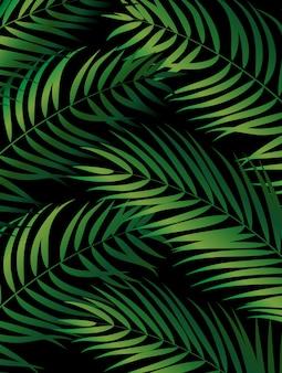 Tropikalna naturalna zielona palma. ilustracja