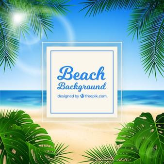 Tropikalna plaża z realistycznym projektem