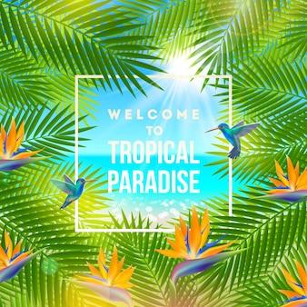 Tropikalna przyroda w tle