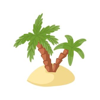 Tropikalna wyspa na białym tle.