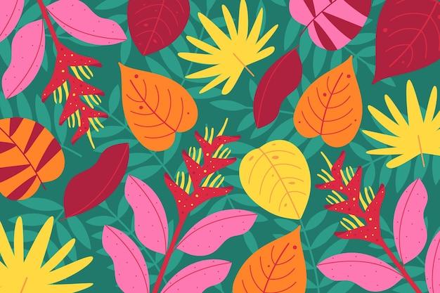 Tropikalne kwiaty na tle zoom