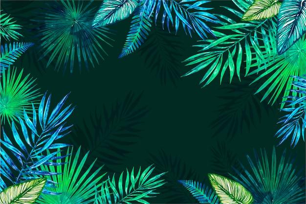 Tropikalne kwiaty tło dla powiększenia