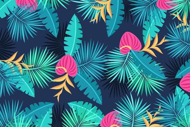 Tropikalne kwiaty tło do komunikacji wideo