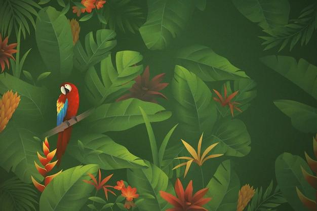 Tropikalne kwiaty tło do powiększenia