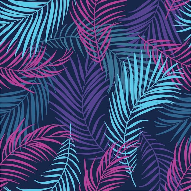 Tropikalne liście, dżungla pozostawia tło wzór