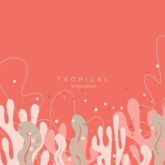 Tropikalne liście i kolorowe tło lato