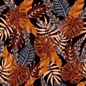 Tropikalne liście i rośliny