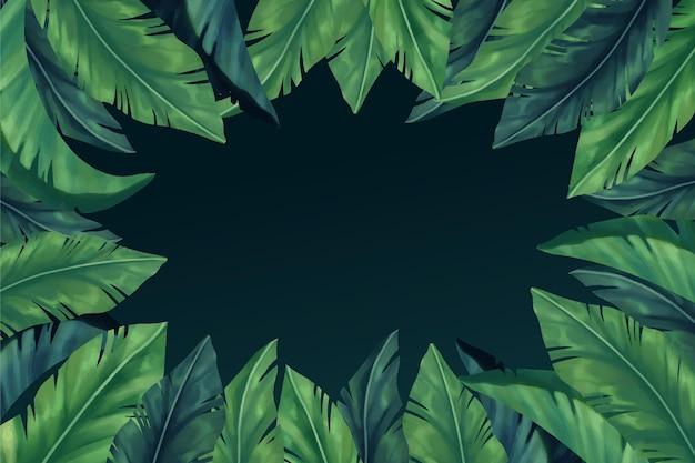 Tropikalne liście tło dla powiększenia