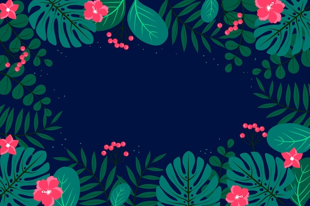 Tropikalne liście tło do powiększenia