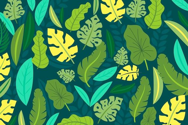 Tropikalne liście tło