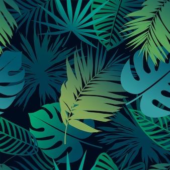 Tropikalne liście wzór