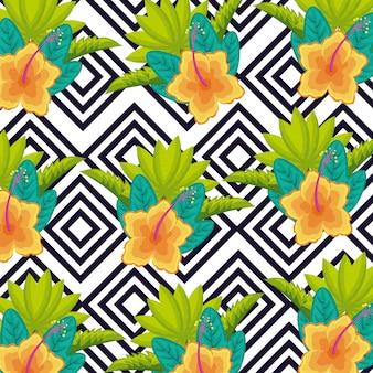 Tropikalne naturalne liście