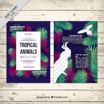 Tropikalne zwierzęta szablon magazyn