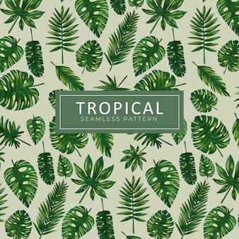 Tropikalny bezszwowy wzór