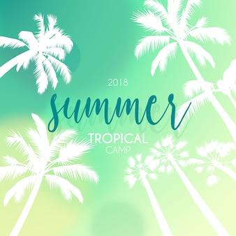 Tropikalny krajobraz z palmami