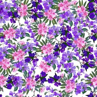 Tropikalny kwiat bez szwu