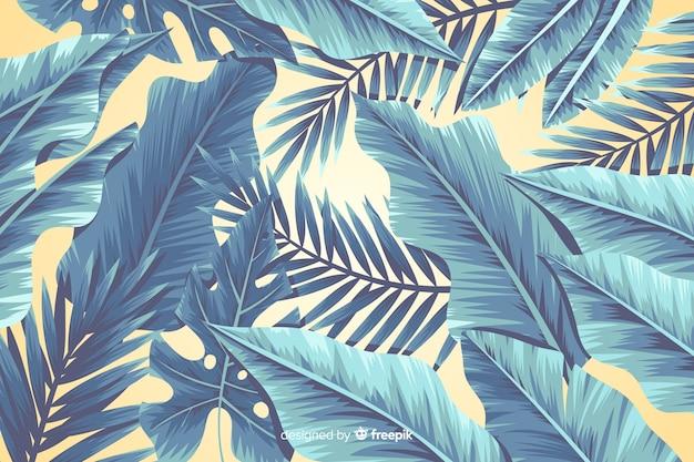 Tropikalny kwiat tło