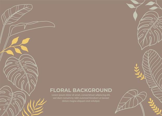 Tropikalny kwiatowy tło sztuki